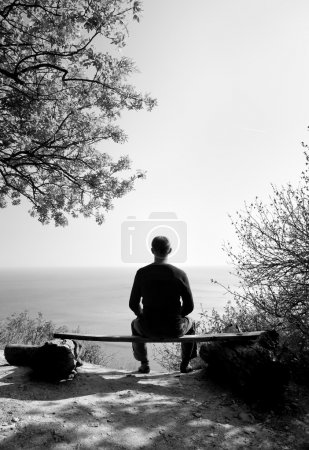 Photo for The person sitting on a shop on breakage - Royalty Free Image