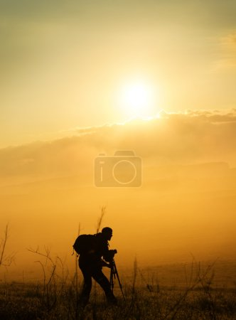 The photographer in mountains