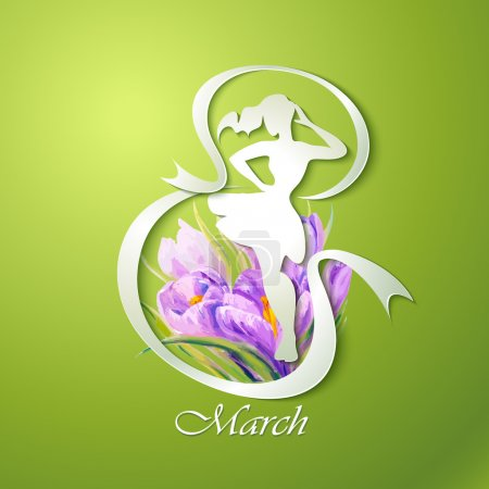 Photo for Happy Women's Day greeting card. 8 March. - Royalty Free Image