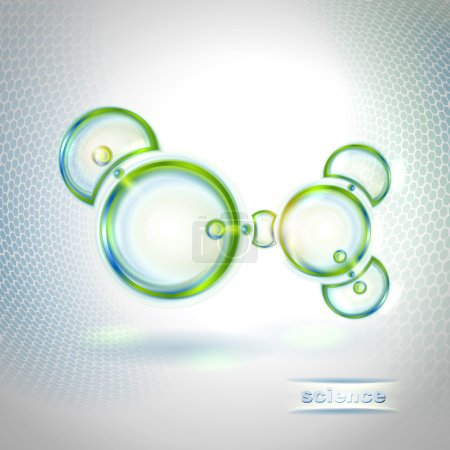 Illustration for Abstract background with organic molecule - Royalty Free Image
