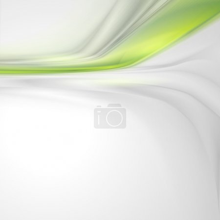 Illustration for Grey soft abstract background with green element - Royalty Free Image