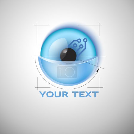Illustration for Sci-fi sign template. Vector. Editable. Business Icon - Royalty Free Image