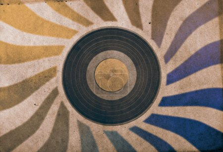 Photo for Vintage musical background with vinyl LP - Royalty Free Image