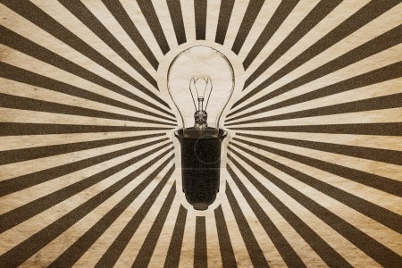 background with bulb