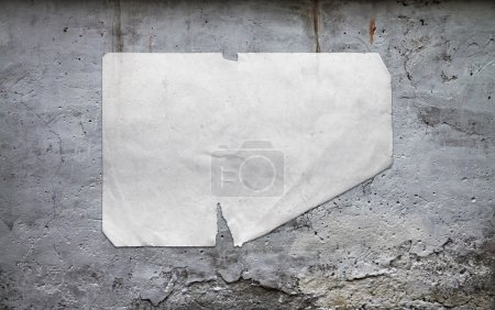 paper on dirty wall