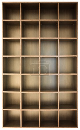 Photo pour Étagères en bois vides - image libre de droit