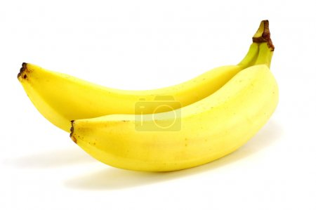 Photo for Two ripe bananas on a white background - Royalty Free Image