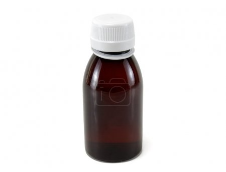 Brown medical bottle