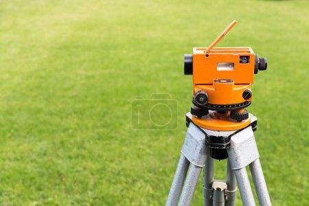 Optical level on tripod