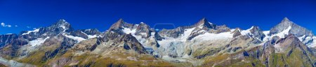 Photo for Alps mountains and glaciers panorama. - Royalty Free Image