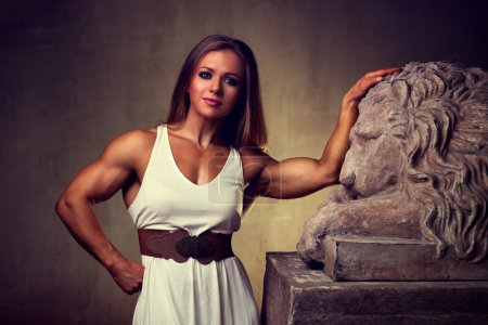 Young woman bodybuilder
