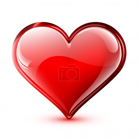 Illustration for Illustration of a bright and glossy vector heart - Royalty Free Image