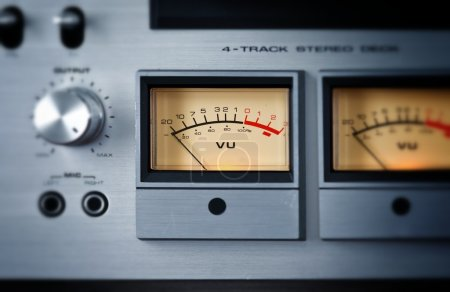 Photo for Analog Stereo Open Reel Tape Deck Recorder VU Meter Device - Royalty Free Image