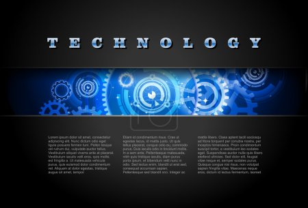 0482 Techno Background Blue