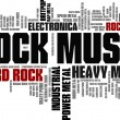 Rock Music Styles Word Cloud Bubble Tag Tree vecto...
