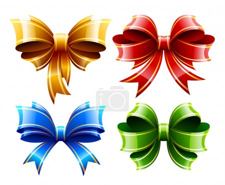 Illustration for Vector set of beautiful gift bows. - Royalty Free Image