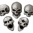Black-and-white image with skulls...