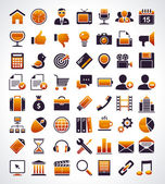 Vector set of 56 simple universal web icons