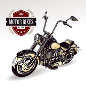 Motorcycle isolated on white. Vector illustration