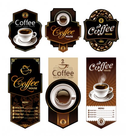 Coffee design banners