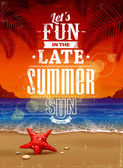 Sommer retro poster