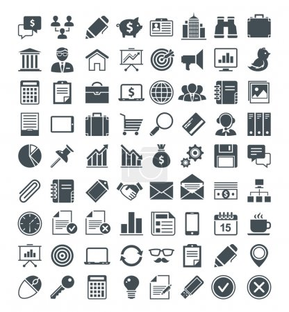 Illustration for Set of usefull vector icons. Vector pictograms. Vector signs. - Royalty Free Image