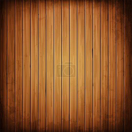 Illustration pour Fond de planche en bois. Texture réaliste en bois.Illustration vectorielle - image libre de droit