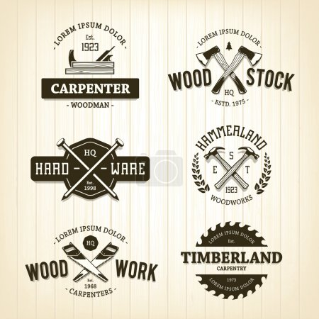 Vintage Carpentry Emblems