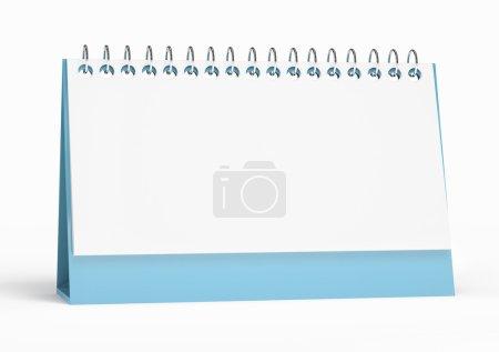 3d render of isolated blank calendar