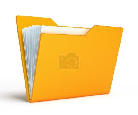 Orange folder. Isolated on white background