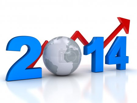 New year business grow concept