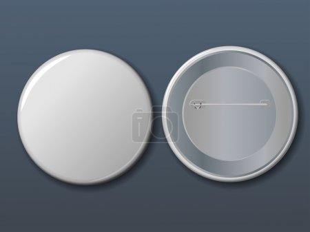 Vector white badge with place for your text.