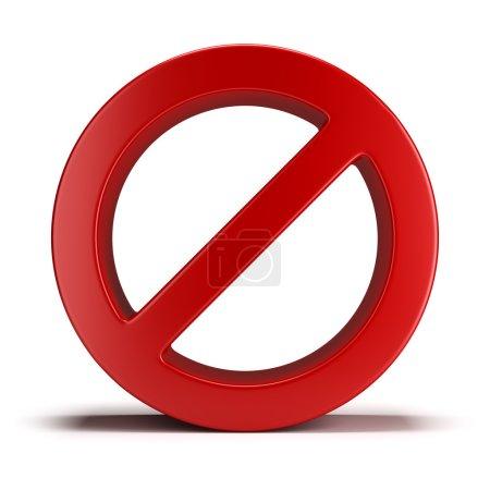 Photo pour Aucun signe. image 3D. fond blanc isolé. - image libre de droit