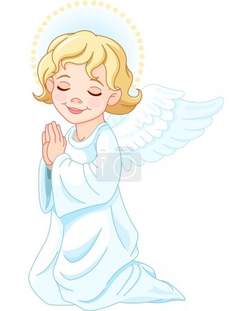 Illustration for Illustration of praying nativity Angel - Royalty Free Image