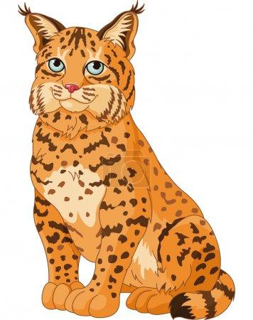 Illustration pour Illustration du lynx sauvage - image libre de droit