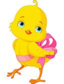 Cute Easter Chick with bow