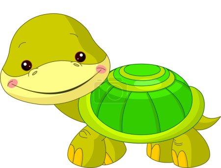 Illustration pour Plaisir zoo. illustration de tortue mignon - image libre de droit