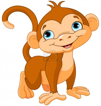 Illustration for Illustration of cute baby monkey - Royalty Free Image