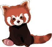 Roztomilý panda červená