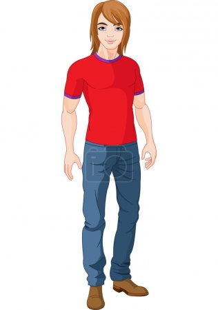 Illustration for Illustration of pretty young man - Royalty Free Image