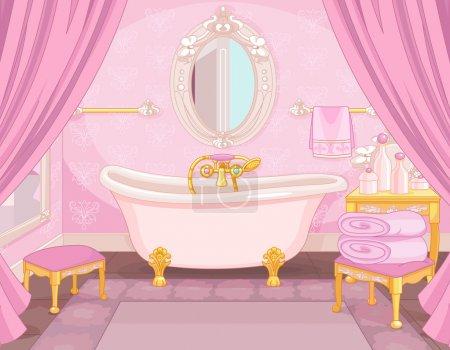 Interior of bathroom in the castle