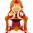 King sitting on the throne...