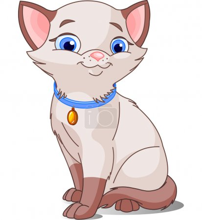 Illustration pour Illustration de chat mignon, a souligné siamois - image libre de droit