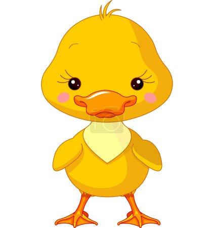 Illustration for Farm animals. Illustration of cute Duck - Royalty Free Image