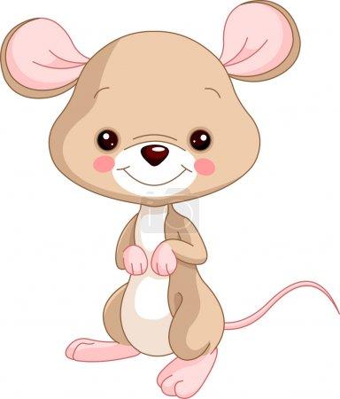 Illustration for Farm animals. Illustration of cute Mice - Royalty Free Image