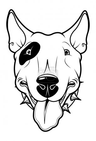 Illustration of cartoon Bull Terrier