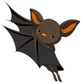 Cute Cartoon Halloween bat presenting with his wings