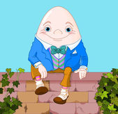 Humpty Dumpty egg sitting on wall