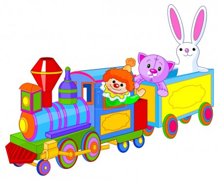 Toy train with fun characters