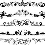 Vector illustration: set of decorative horizontal ...